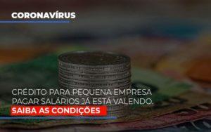 Credito Para Pequena Empresa Pagar Salarios Ja Esta Valendo - Contabilidade na Zona Leste - SP | Peluso & Associados